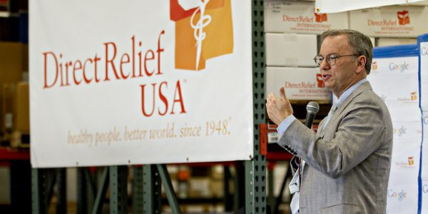 Google's Eric Schmidt Visits Direct Relief