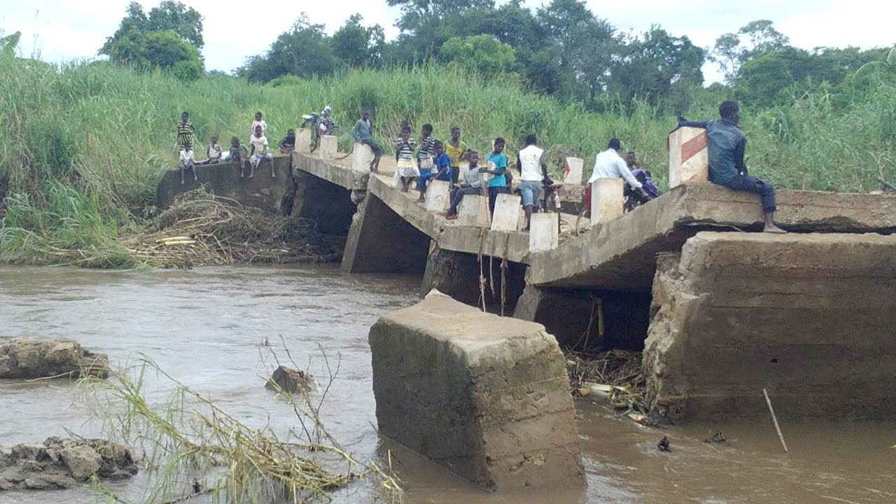 Cyclone Idai caused massive infrastructure damage throughout Mozambique, including this bridge in Zambezia Province. Much of the storm's damage is still unknown since communications are limited in storm-impacted areas. (Photo courtesy of the Real Medicine Foundation)