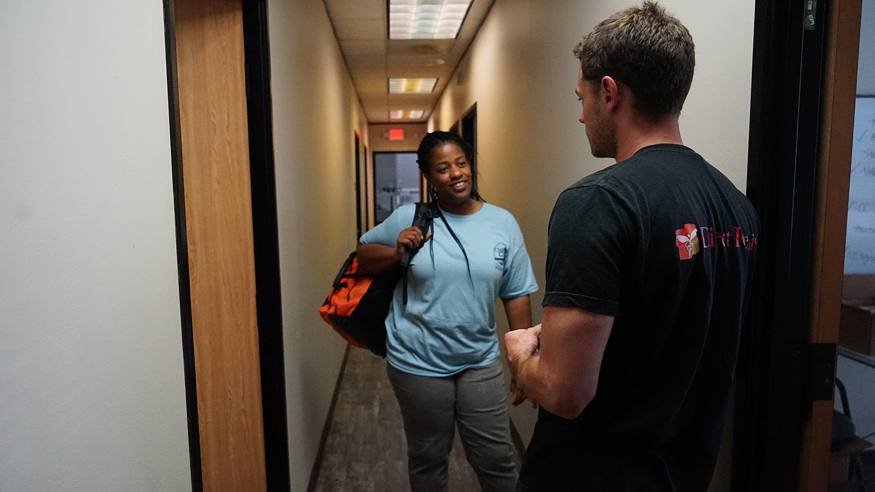 Direct Relief staff deliver emergency medical aid to staff at Christ Clinic in Katy, Texas, in the days following Hurricane Harvey. Christ Clinic and 10 other free and charitable clinics are the recipients of Hurricane Harvery recovery and resiliency funds from Direct Relief. (Photos by Tony Morain/Direct Relief)
