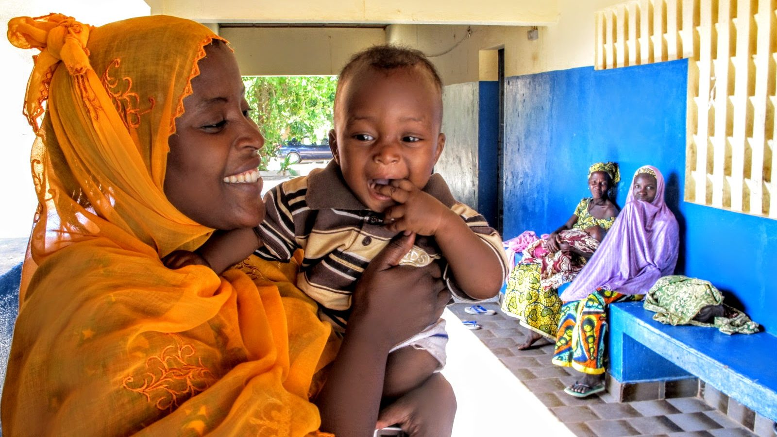 A mother and baby spend time at the Danja Fistula Center  in Southern Niger. Direct Relief is committed to supporting healthy births around the world, and is working to equip local healthcare providers. (Photo by William Vazquez)