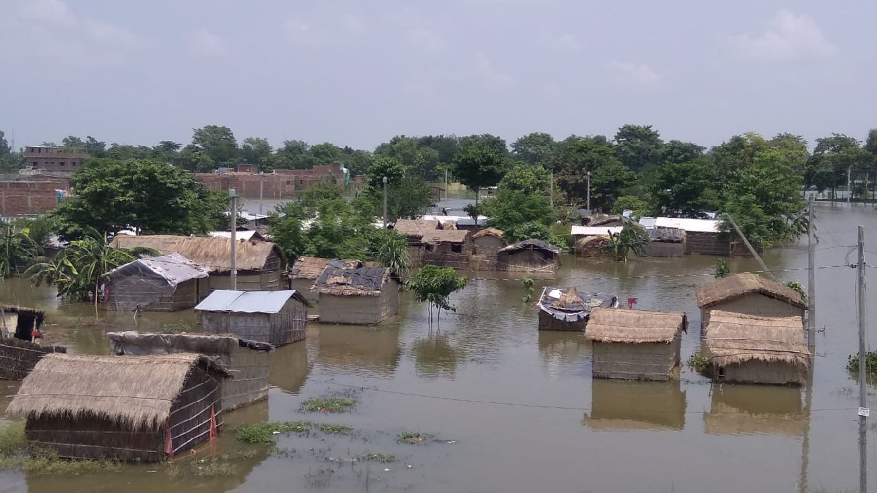 A village in India partially submerged by recent flooding. (Photo courtesy of Doctors for You)
