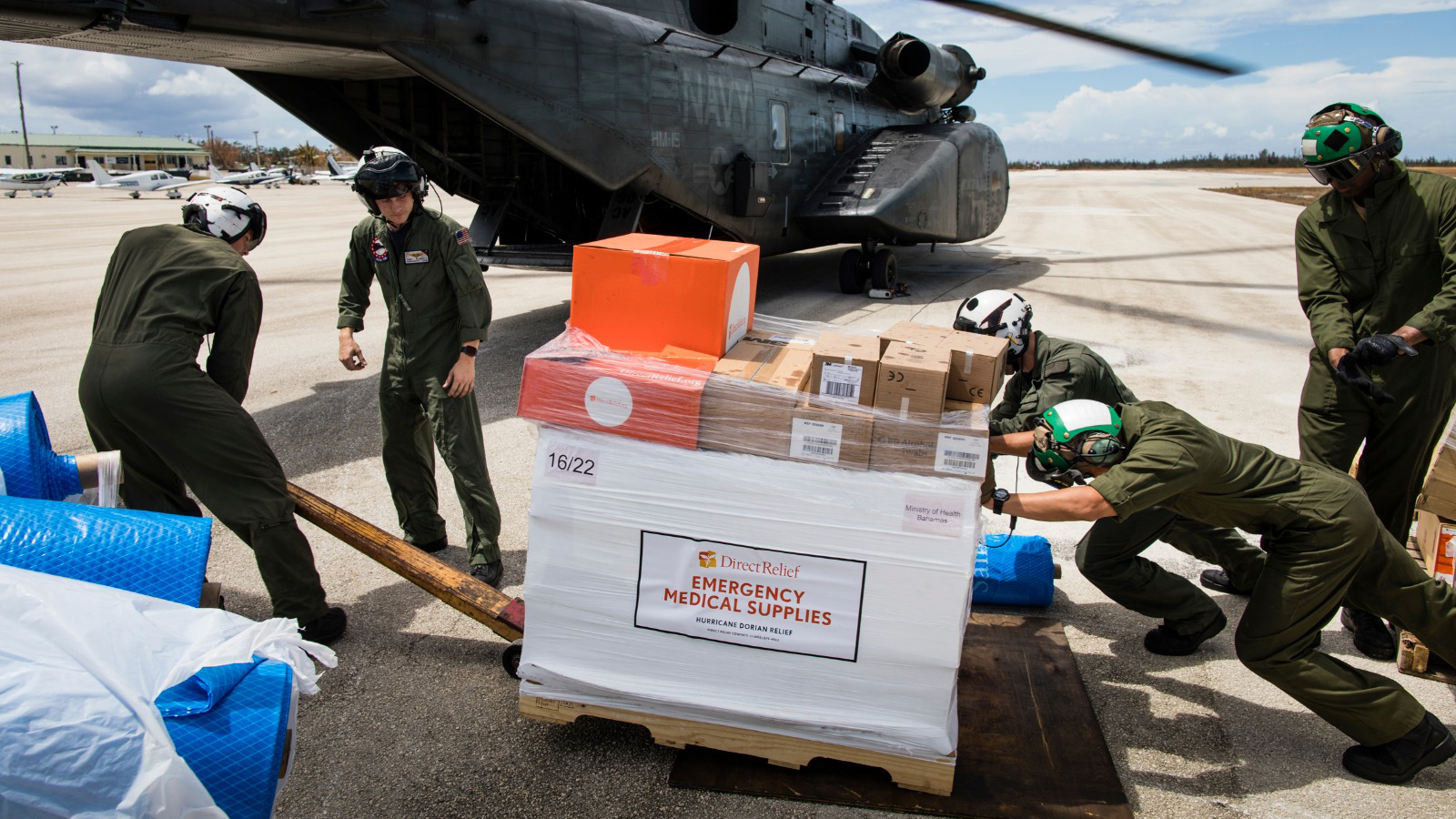 Medical aid arrives in the Bahamas after Hurricane Dorian. (Courtesy photo)