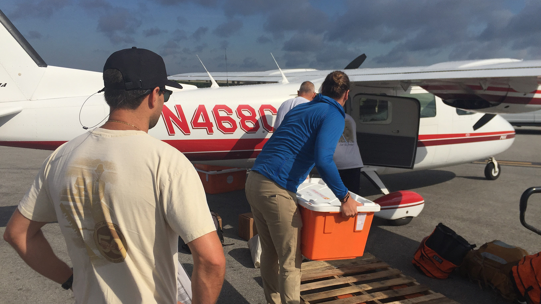 Direct Relief supplies arrive on Green Turtle Cay. (Photo courtesy of Dr. John Shedd)