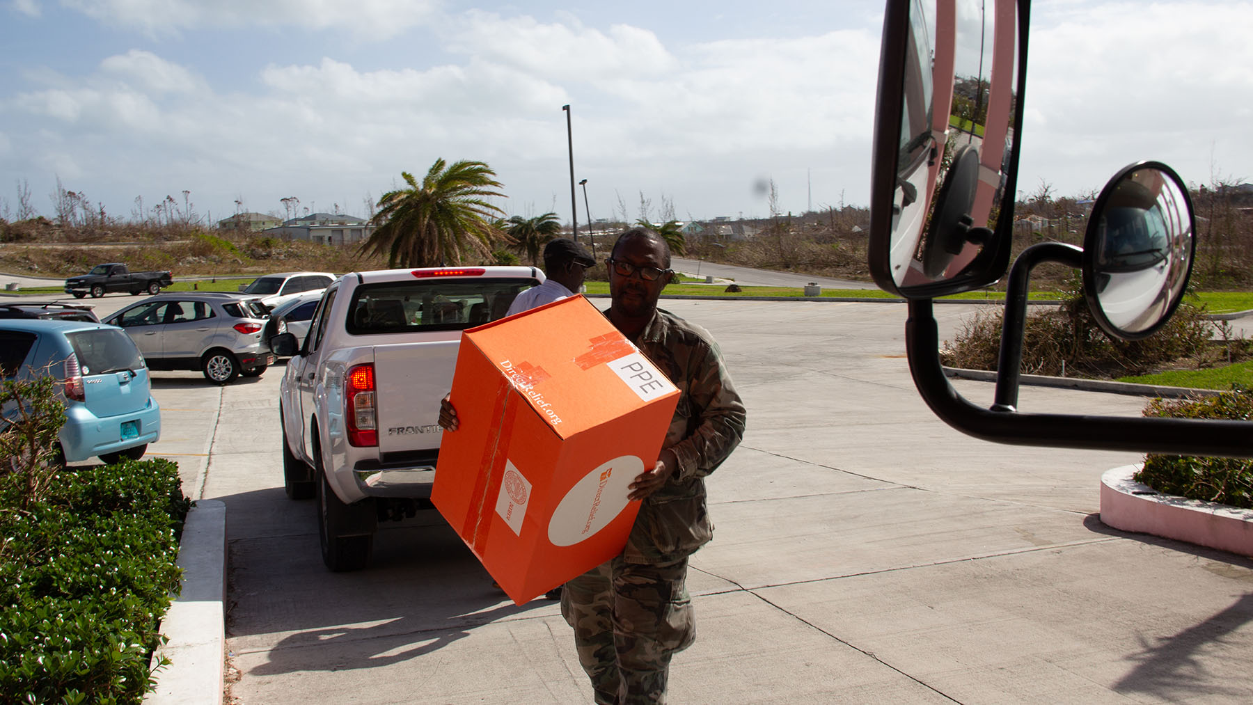 Emergency medicines and supplies are delivered to Marsh Harbour in the Bahamas after Hurricane Dorian battered the islands in August. (Direct Relief)