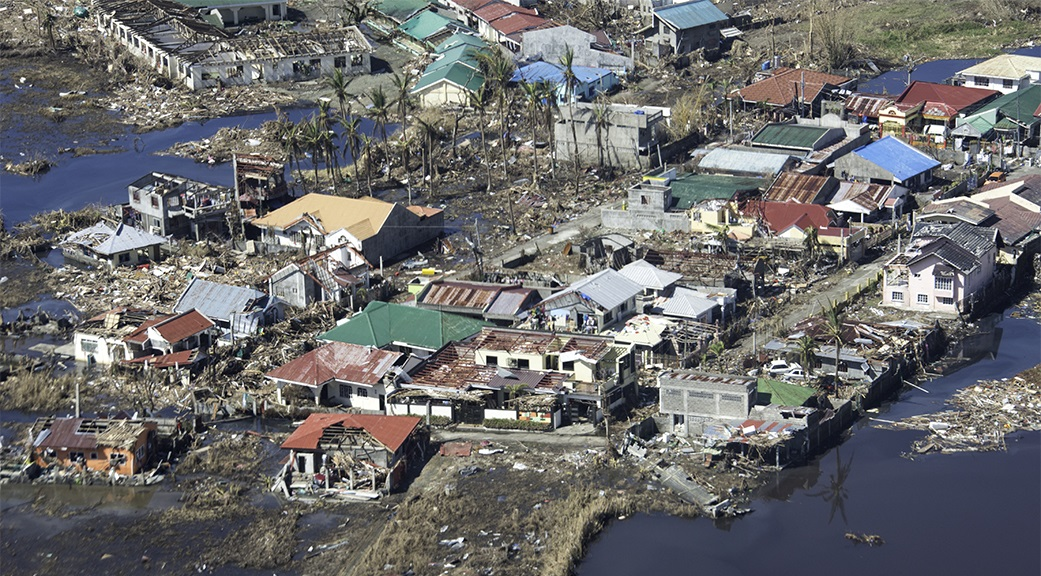 Damage to the city of Tacloban, in the Philippines, in the wake of Typhoon Haiyan. (Photo by Jodie Willard for Direct Relief)