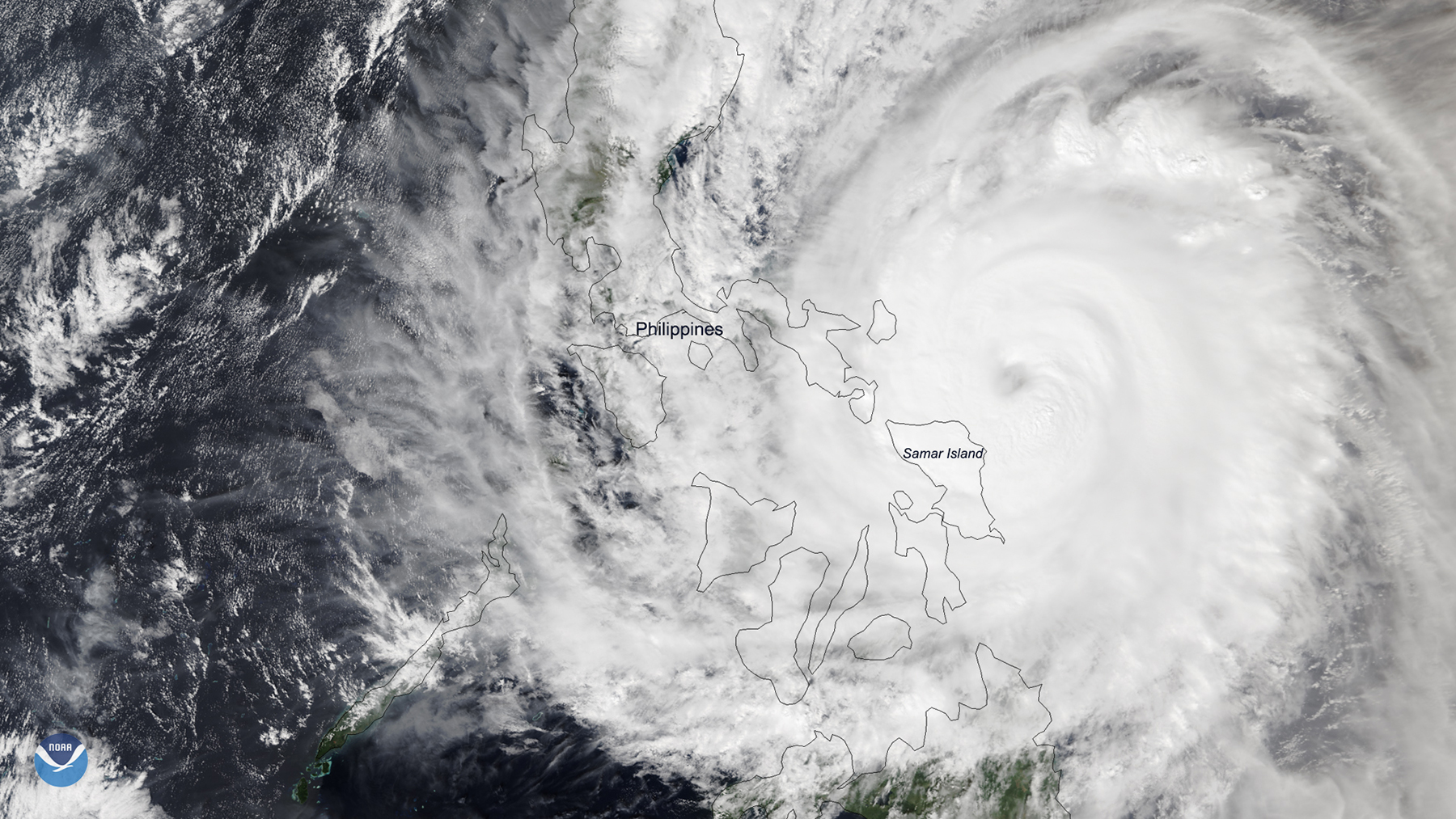 Typhoon Kammuri as seen from above on Dec. 2, 2019. (Photo courtesy of NOAA)