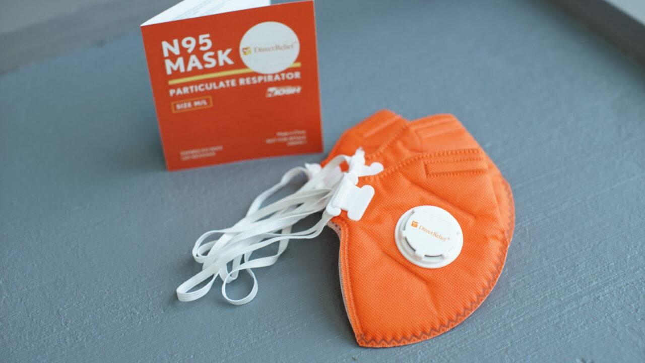 Direct Relief N-95 Masks: Lara Cooper/Direct Relief