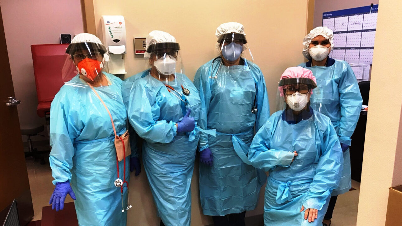 Protective gear for health workers arrives at Brownsville Health Center in Brownsville, Texas, in March, 2020. The shipment included N95 masks, gloves, gowns and other protective gear requested to prevent the spread of coronavirus. (Courtesy photo)