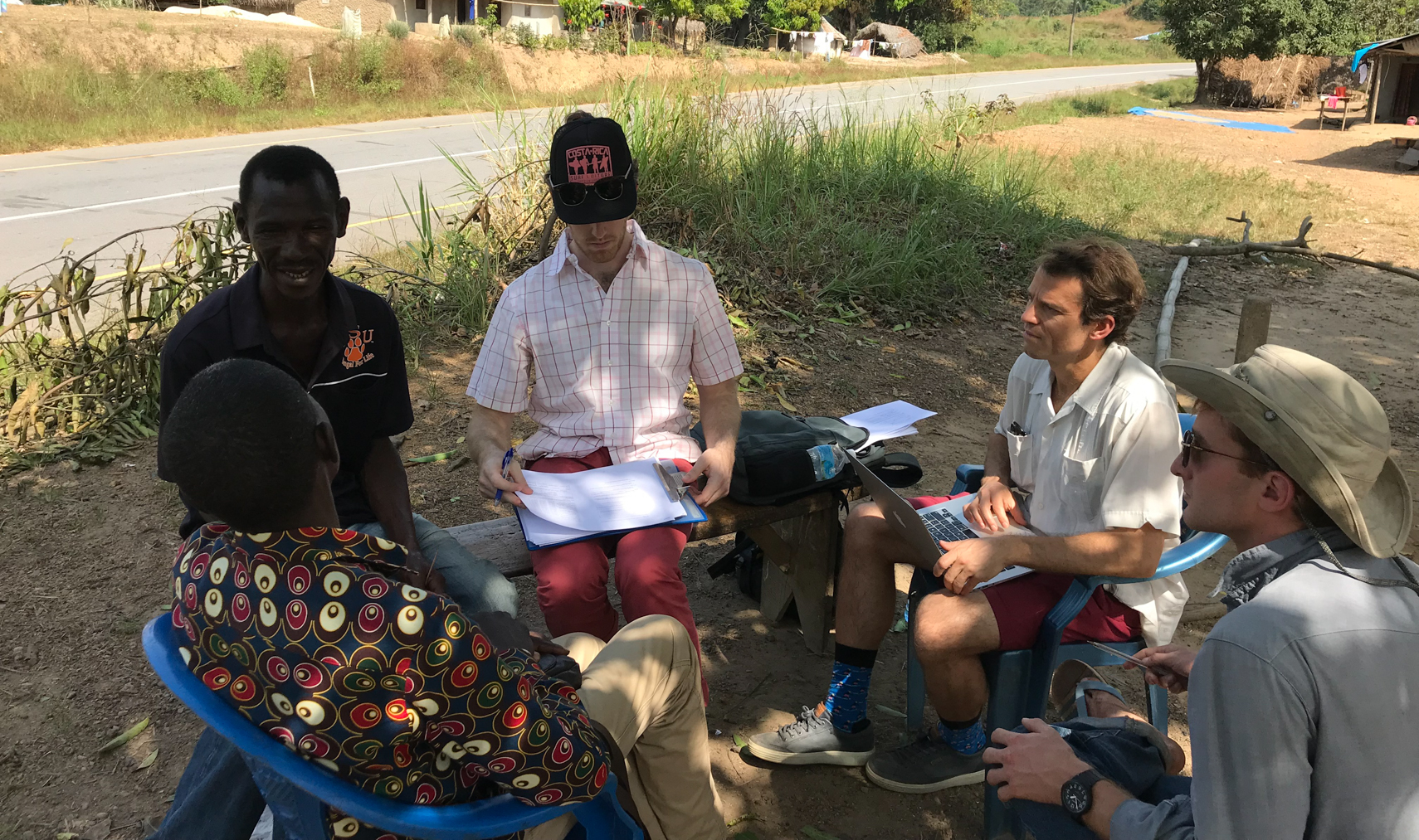 Dr. Dan Kelly in Liberia (second from right), December 2019. (Photo Courtesy of Dan Kelly)