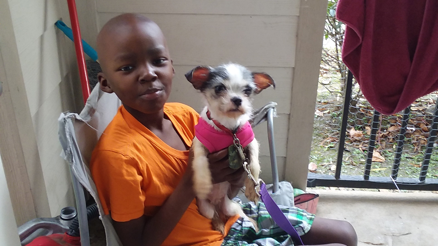 Keyonte Harris, now nine years old, was diagnosed with cancer in the months after Hurricane Harvey damaged his family's Texas home. (Photo courtesy of Family Reach)