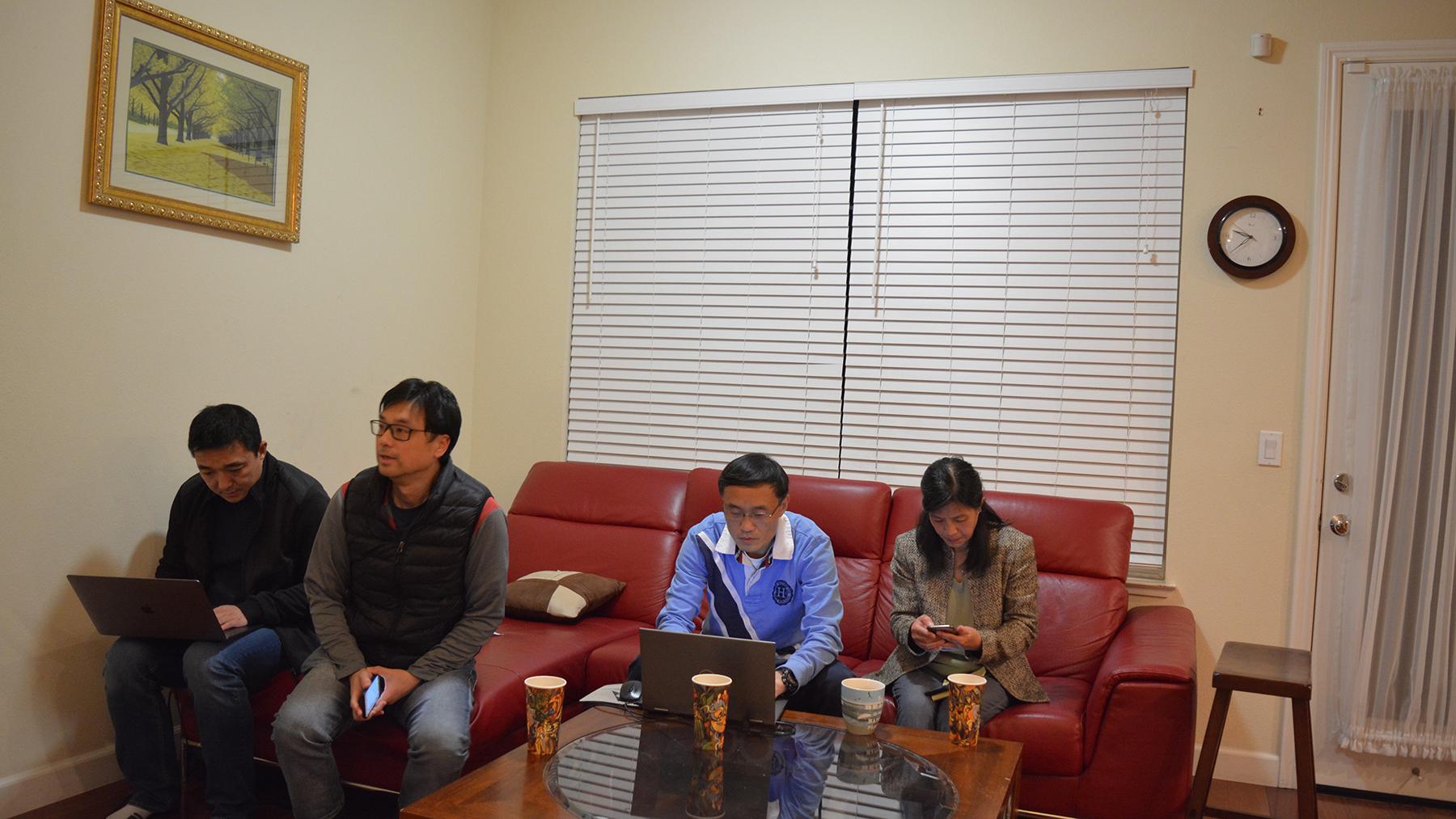Members of Wuhan United, a Bay Area-based group, coordinate their coronavirus response. (Photo courtesy of Tom Gong)