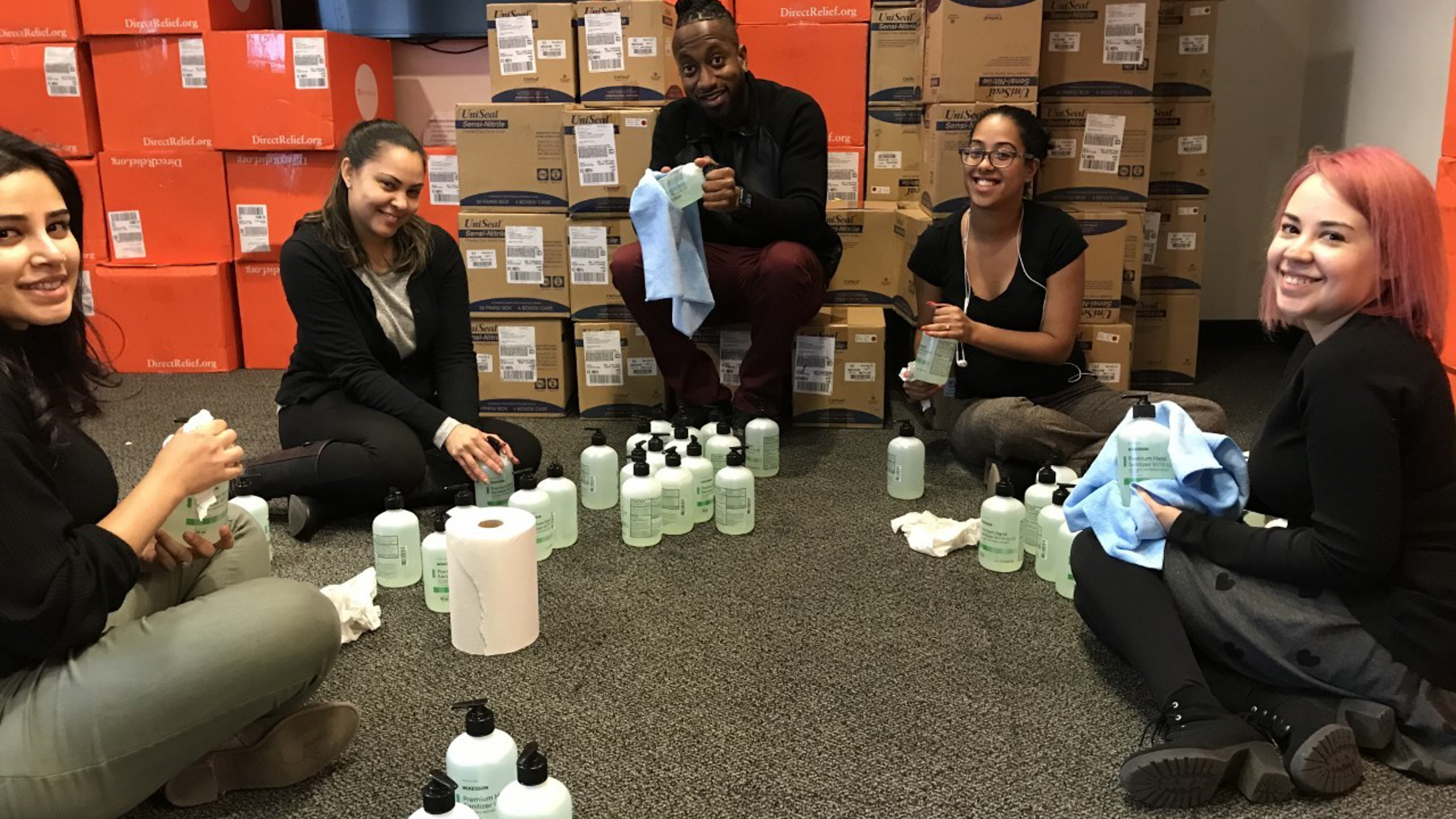Community Healthcare Network staffers unpack medical supplies in NYC on March 18.(Photo Courtesy of Community Healthcare Network)
