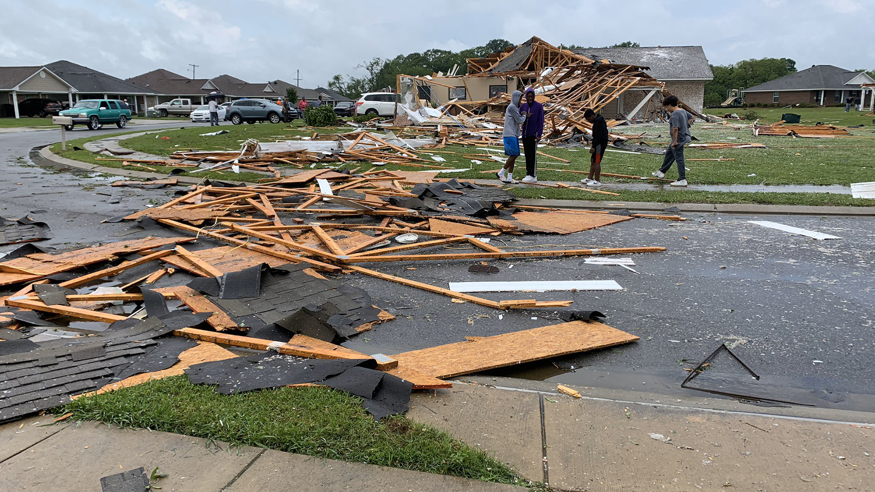 Tornado damage is seen in the city of Monroe, Louisiana, after tornadoes and severe thunderstorms swept through many parts of the U.S. South on Sunday and Monday. The deadly storms add complications for communities already impacted by Covid-19. (Photo courtesy of the City of Monroe)
