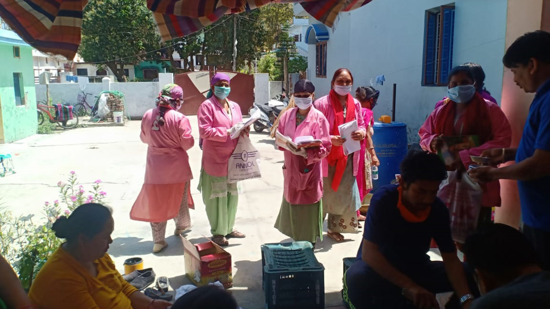 ASHA workers conduct Covid-19 surveys in the north Indian state of Uttarakhand. (Photo courtesy of the Uttarakhand ASHA Workers' Association)