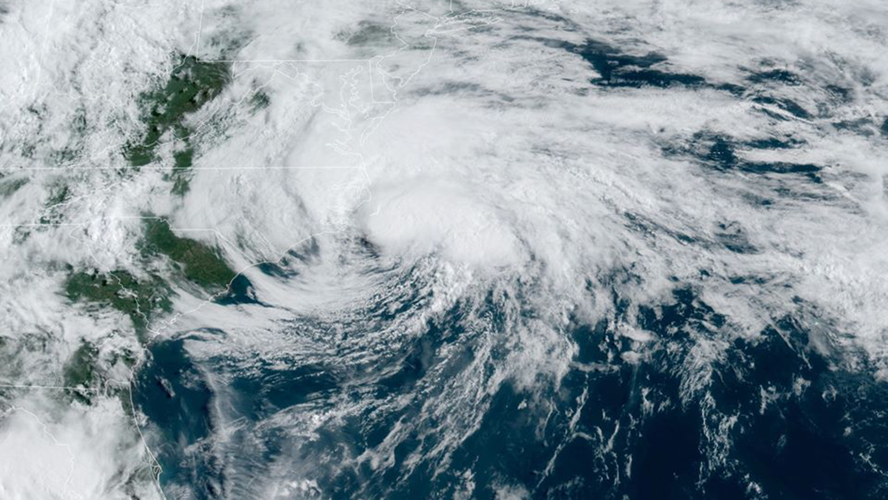 Tropical Storm Arthur in an image released on May 18. (Image courtesy of NOAA)