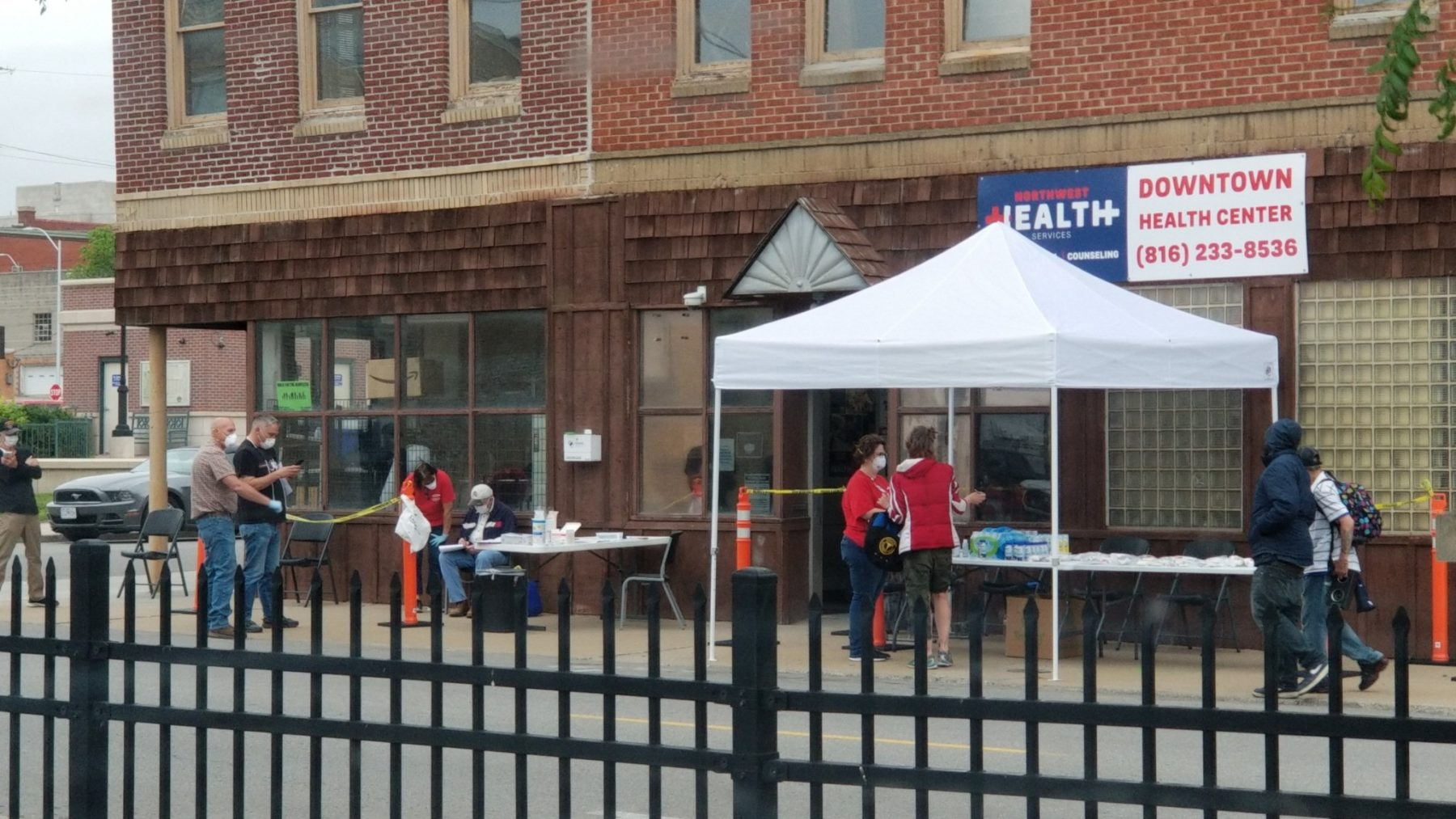 Northwest Health Services' Downtown Health Center offering free Covid-19 tests to people experiencing homelessness on May 11. (Photo Courtesy of NHS)