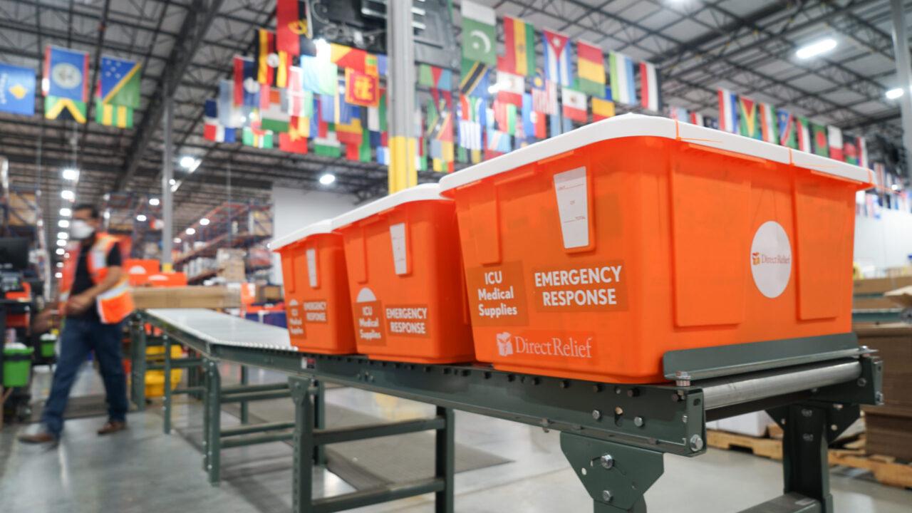 ICU Medicines in Direct Relief's warehouse (Lara Cooper/Direct Relief)