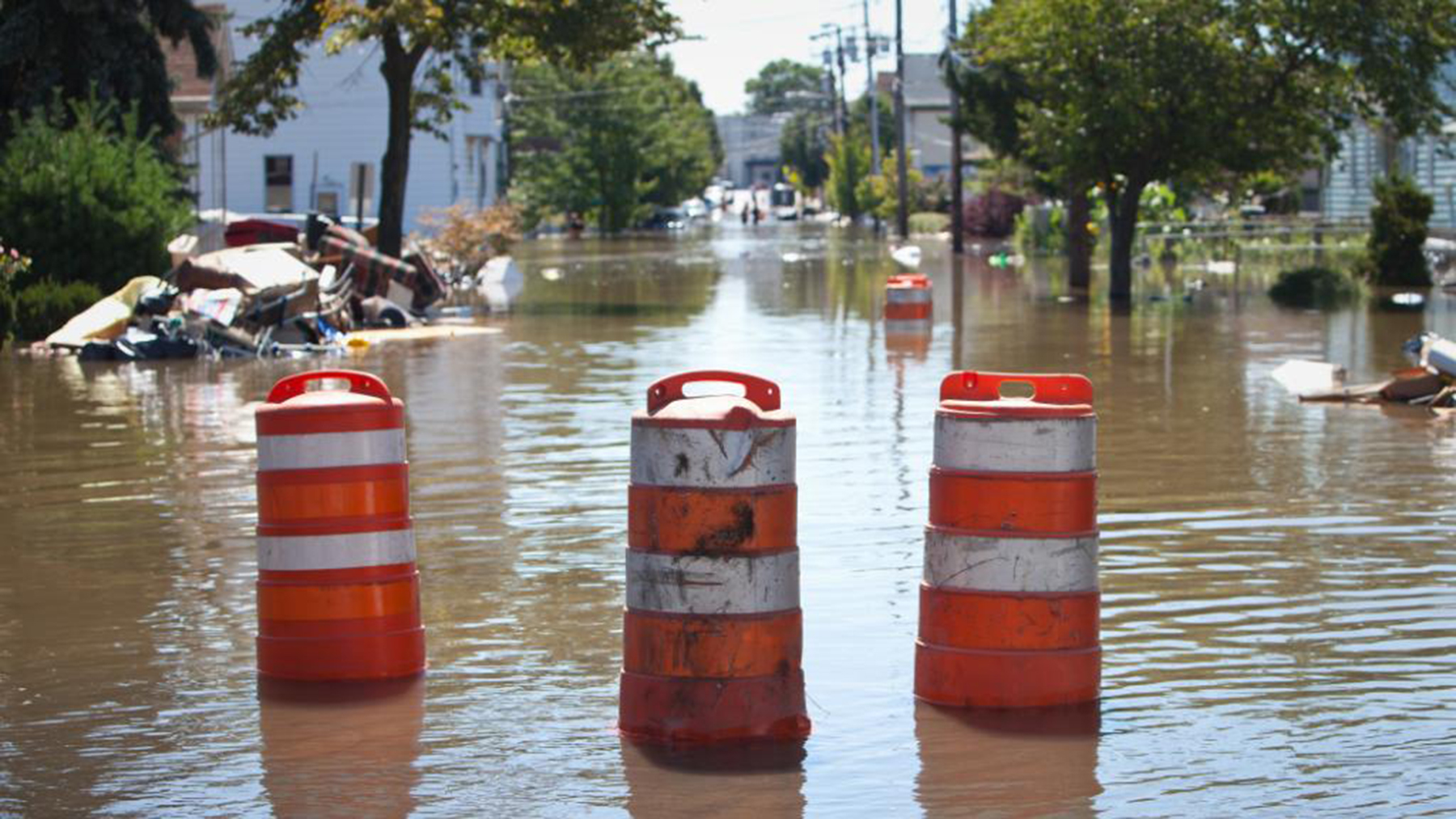 Flooded streets in the wake of Tropical Storm Hanna. (Photo courtesy of the Department of Health and Human Services)
