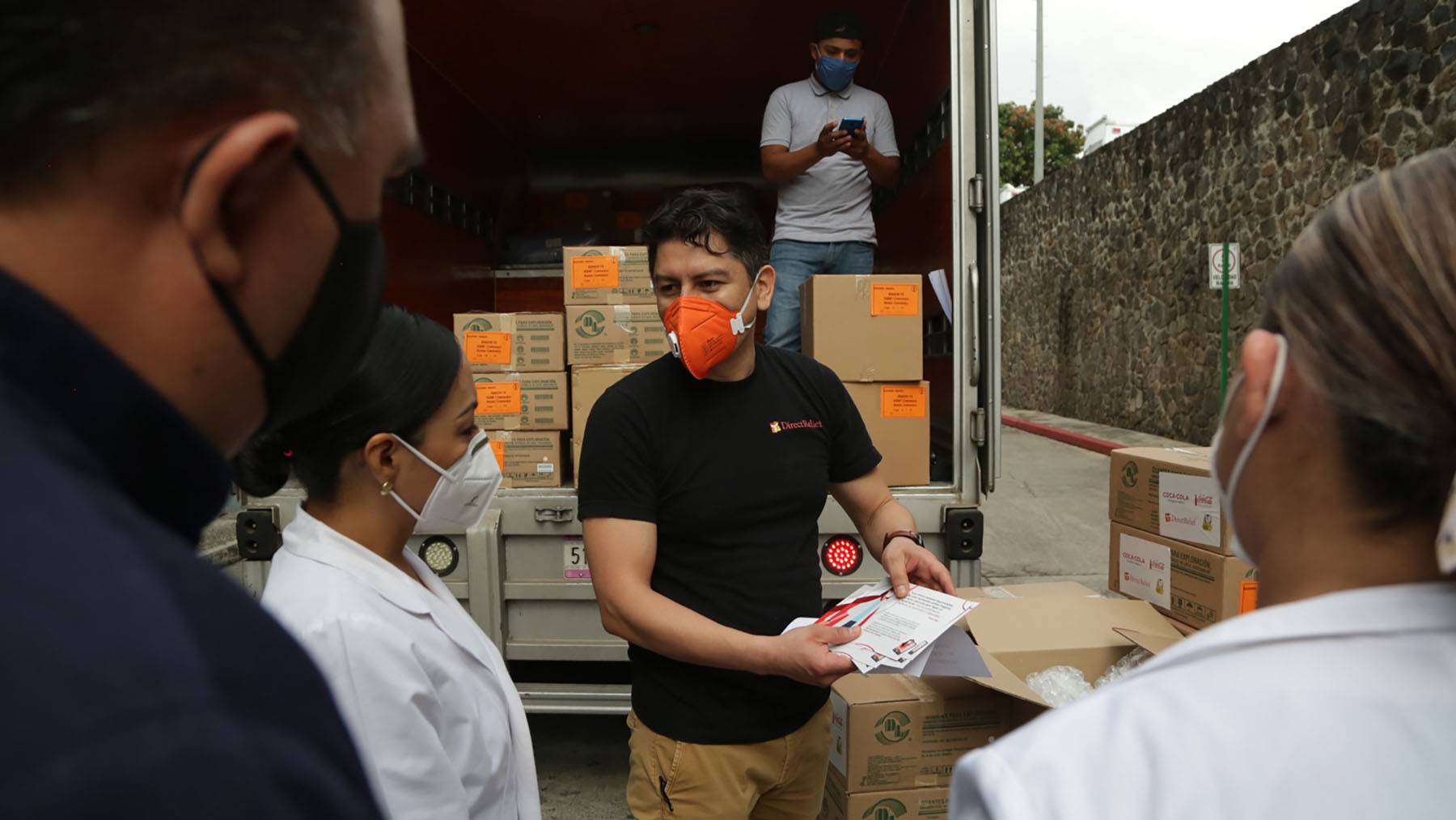A shipment of protective gear from Direct Relief arrives in Morelos, Mexico, on June 30, 2020, for medical staff treating patients at the Mexican Institute of Social Security, or IMSS, a hospital in Cuernavaca treating Covid-19 patients. (Felipe Luna for Direct Relief)