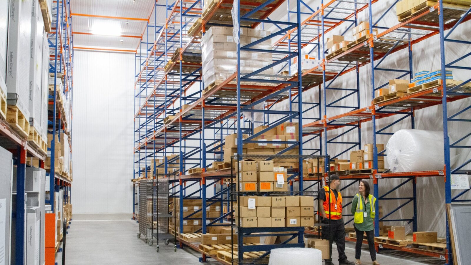 Direct Relief's California headquarters features a 155,000-square-foot pharmaceutical warehouse, the largest in the U.S. run by a charity, and includes validated cold-storage capacity, pictured here in 2019, for vaccines and other temperature sensitive medications.  (Lara Cooper/Direct Relief)