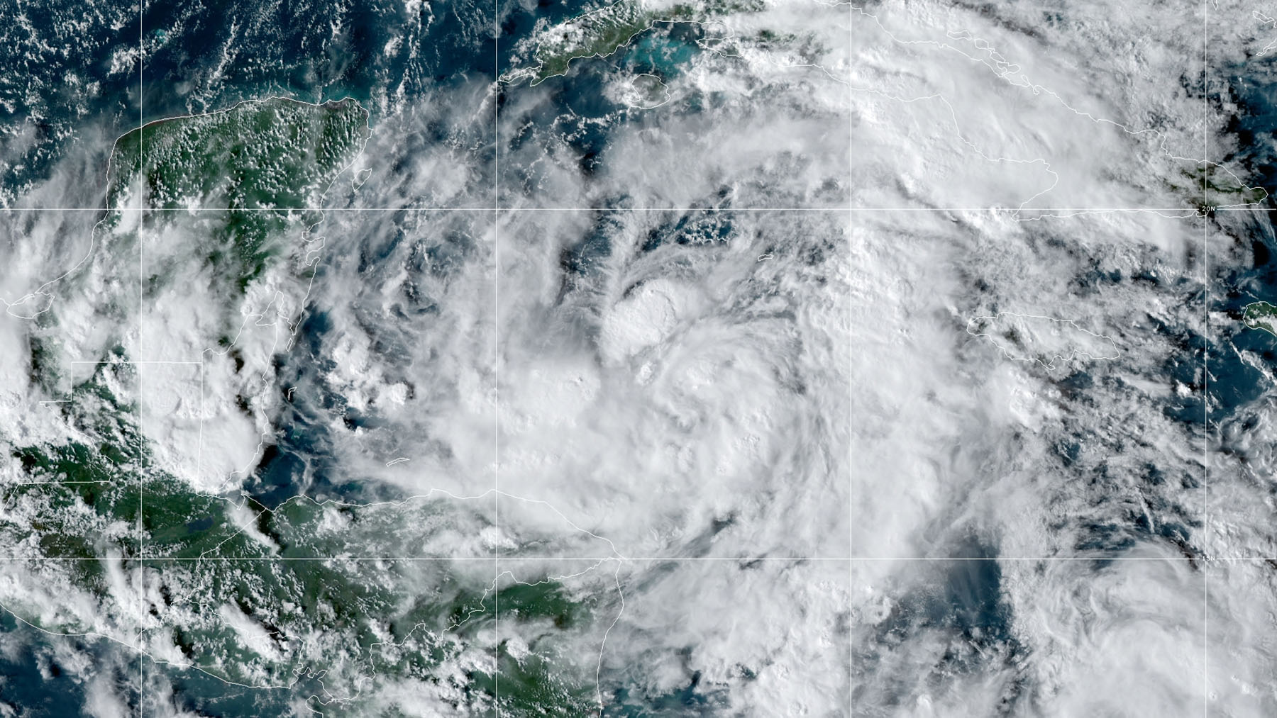 Hurricane Zeta churns through the Gulf of Mexico on Wednesday October 28, 2020. (NOAA Satellite Image)