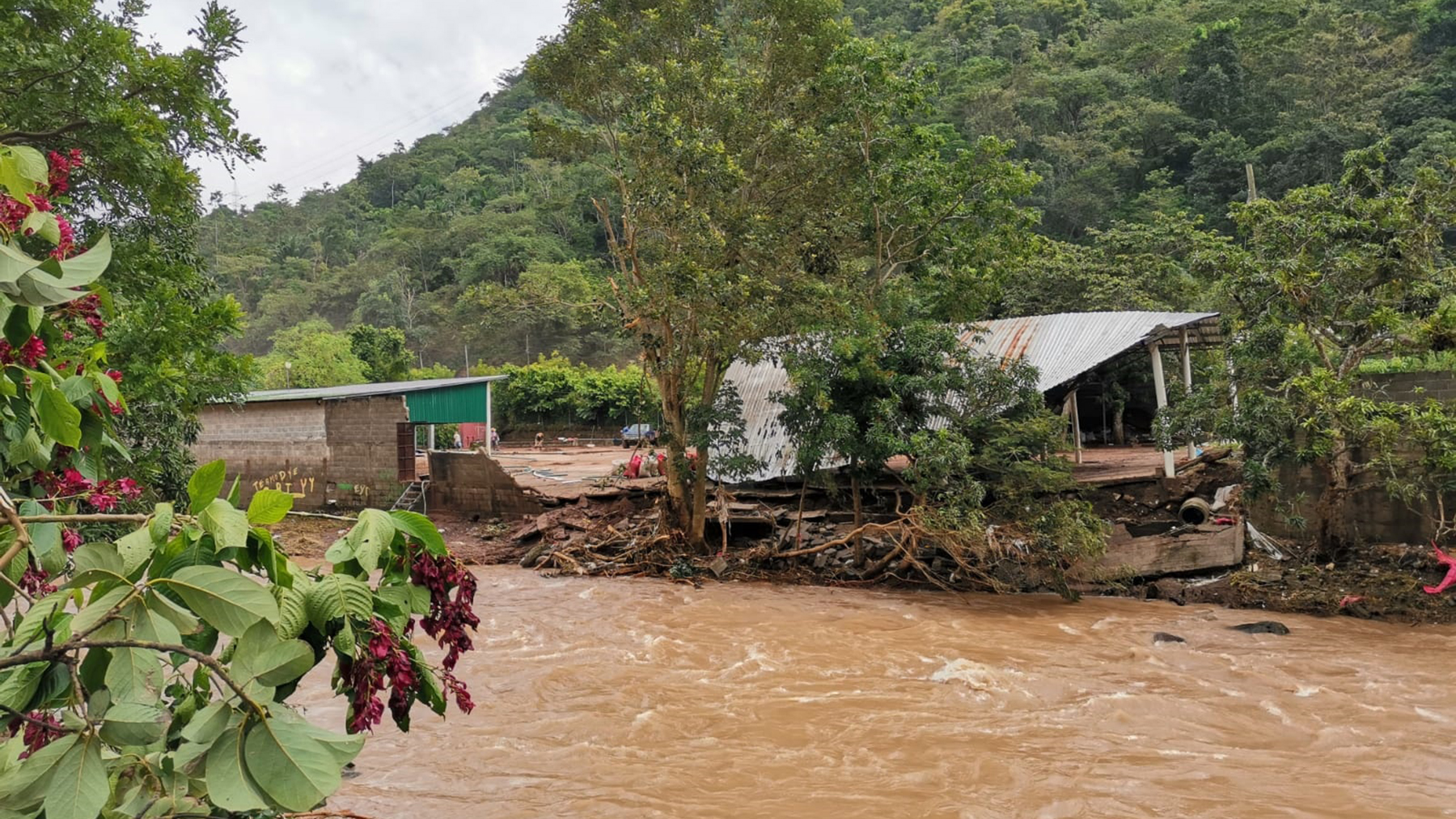Flooding in Honduras's Sula Valley in the wake of Hurricanes Eta and Iota. (Photo courtesy of Proyecto Aldea Global)