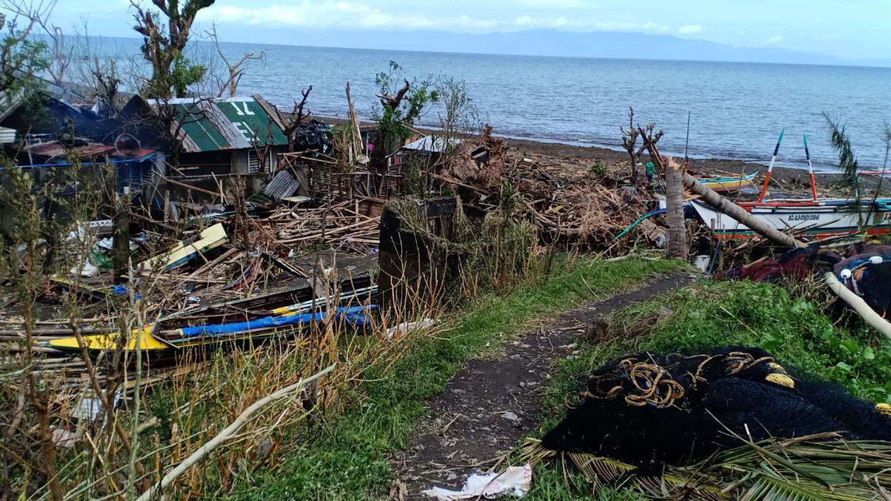 The aftermath of Typhoon Goni in Albay, Philippines, on Nov. 2, 2020. (Photo courtesy of Zaldy Co)