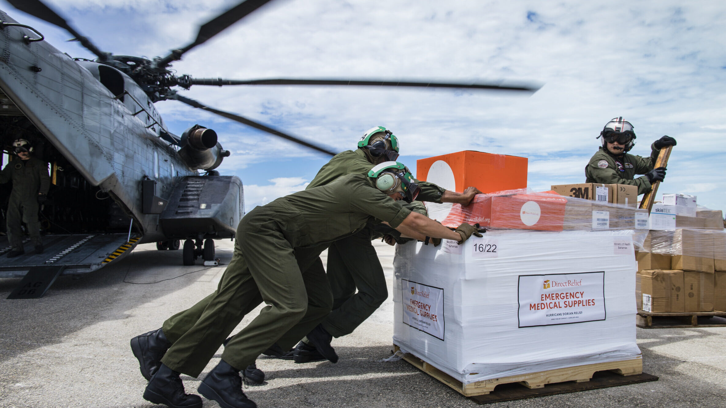 Direct Relief supplies land in the Bahamas in the aftermath of Hurricane Dorian.