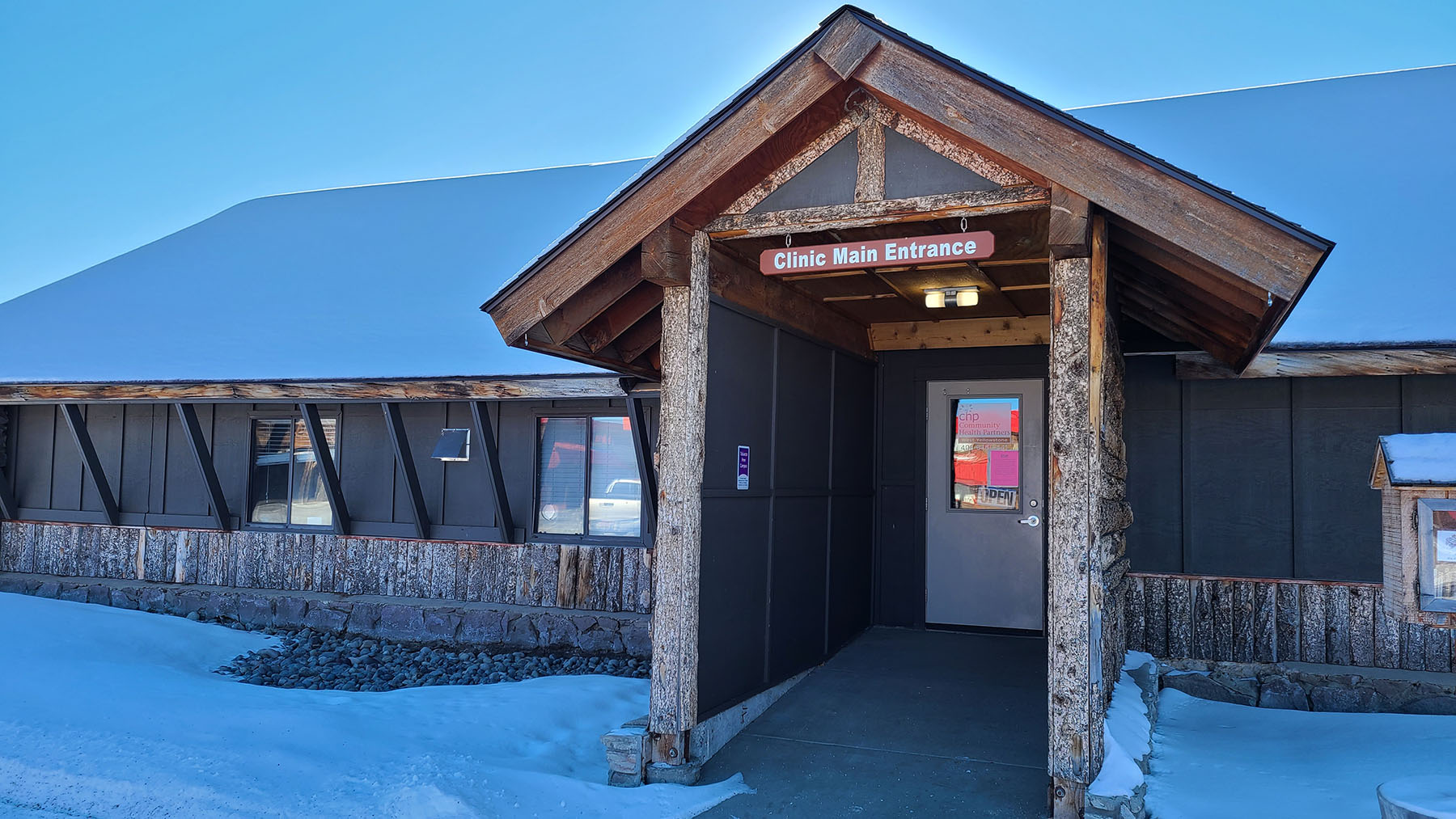 The Community Health Partners health center in West Yellowstone, Montana. The center sits on the border outside Yellowstone National Park. (Photo Courtesy of CHP)