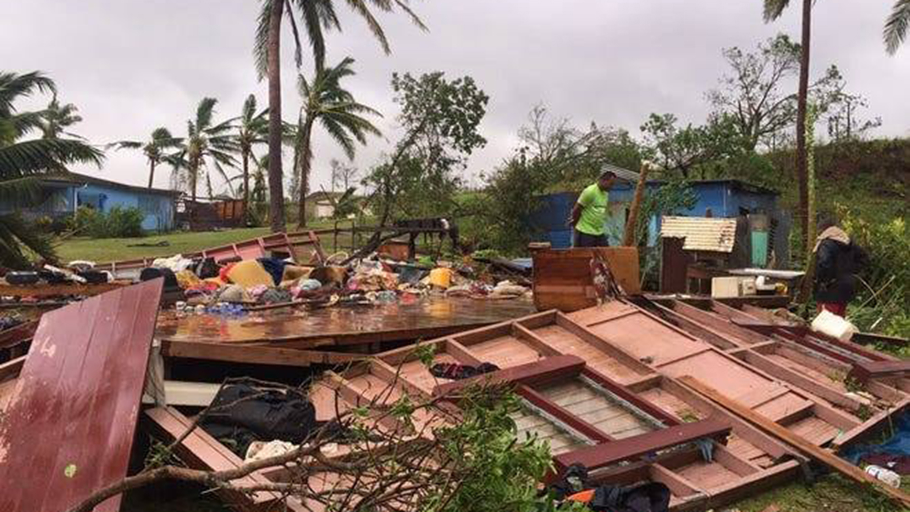 Destruction in the wake of Cyclone Yasa. (Photo courtesy of the Loloma Foundation)