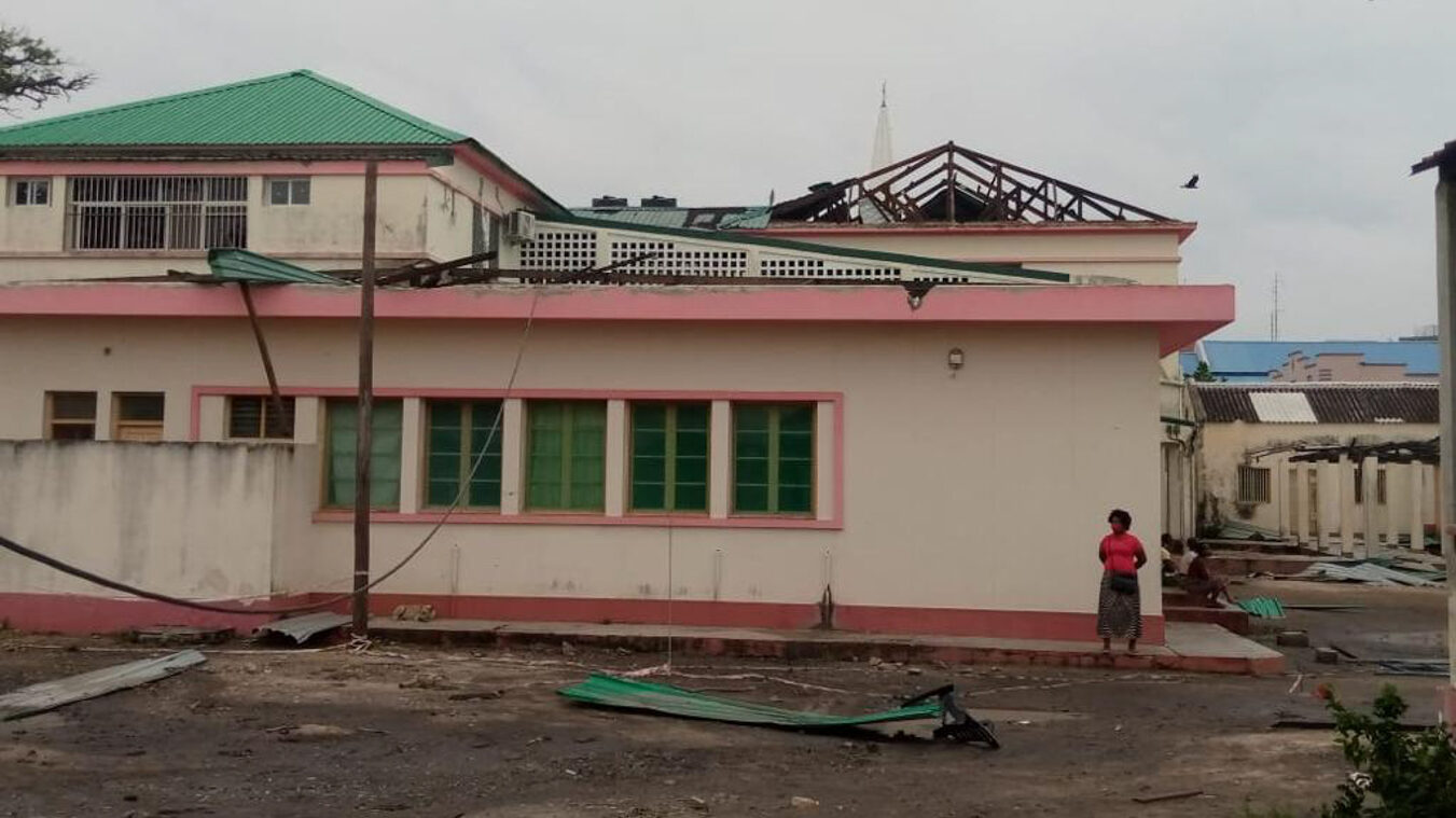 Ponta Gea Hospital in Beira, a main health center in the regional capital city, after Cyclone Eloise. (Photo courtesy of HAI)