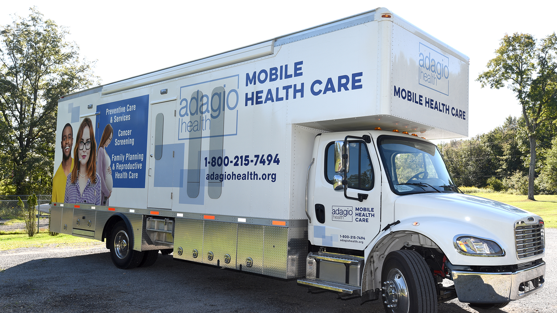 The Adagio Health mobile unit makes its way through Western Pennsylvania. A Bayer and Direct Relief grant award will help Adagio reach patients and increase reproductive health care access. (Photo courtesy of Adagio Health)
