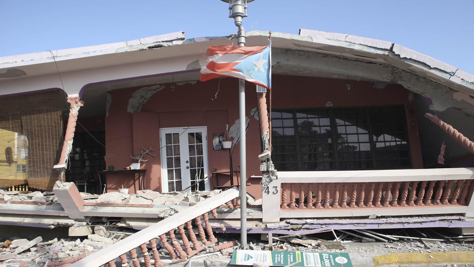 Daños a raíz de los terremotos de Puerto Rico de 2020. (Foto de Marcial Muñoz para Direct Relief)