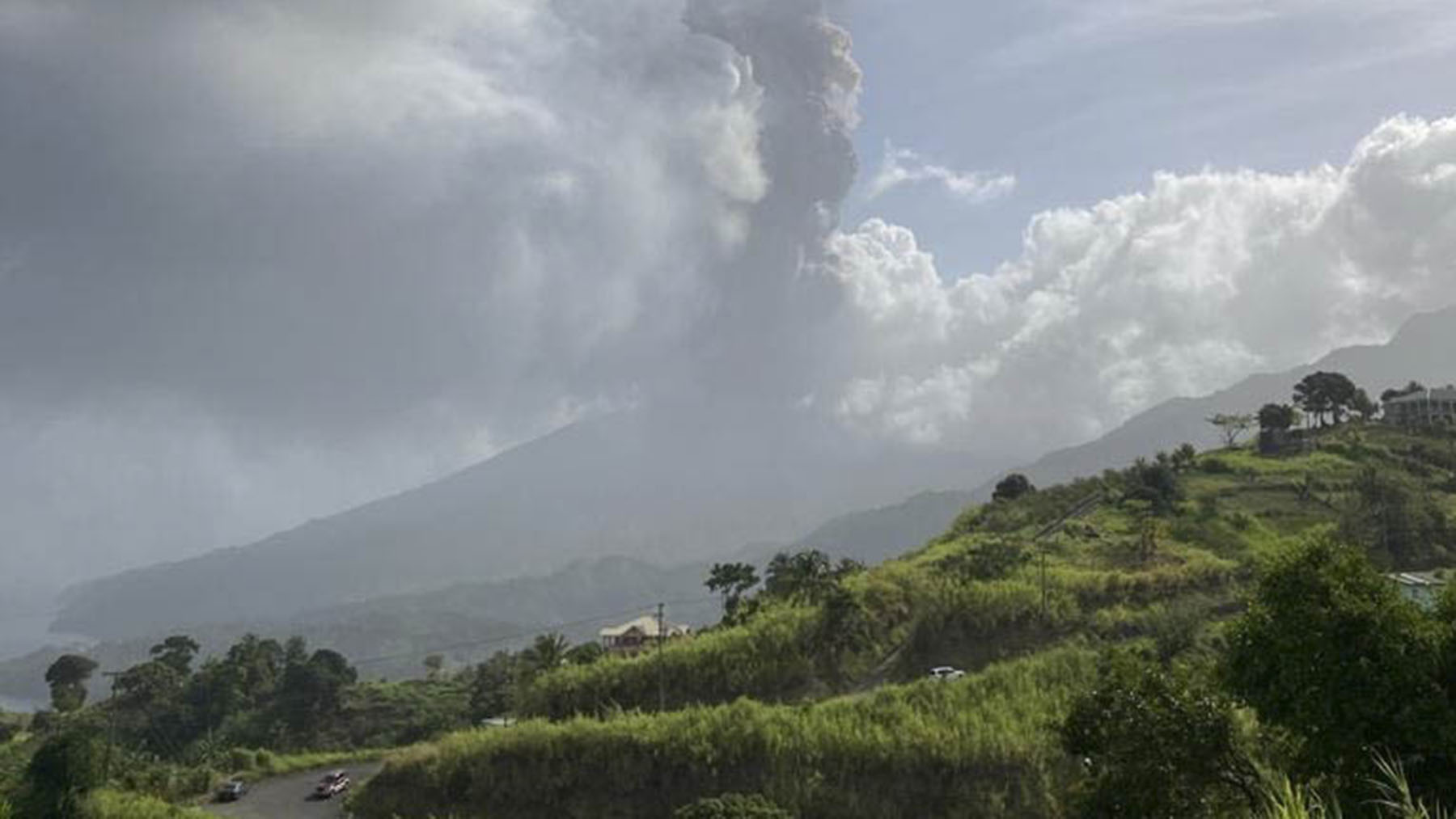 A view of St. Vincent and the Grenadines' La Soufrière volcano. (Photo courtesy of the University of the West Indies Seismic Research Center)