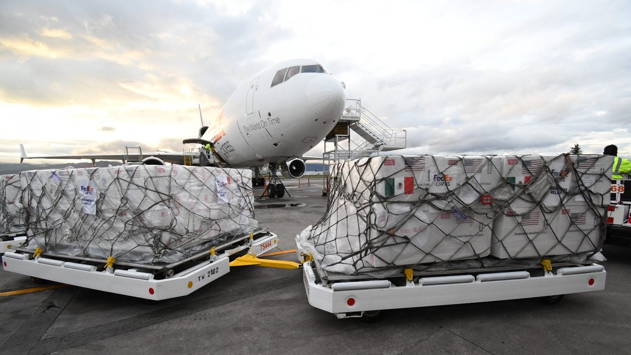 In collaboration with Direct Relief and the US and Mexican governments, FedEx delivers 1.35 million J&J vaccines to Toluca, Mexico on June 15, 2021. (FedEx photo)