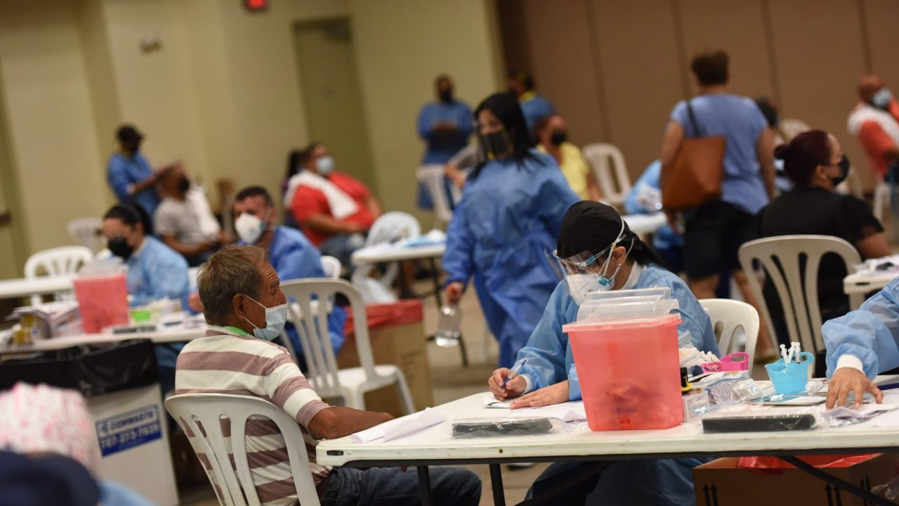 Vaccinations taking place in Puerto Rico. Photos courtesy Med Centro.