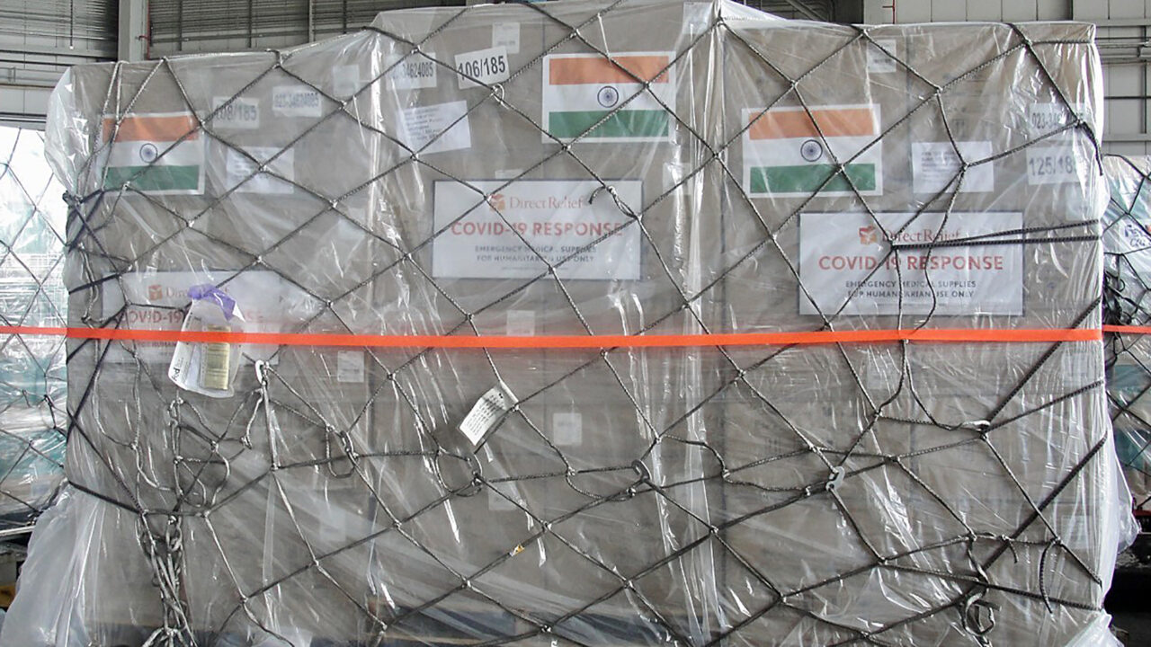 Medical aid for India departs for Mumbai on June 12, 2021, as part of a third FedEx charter flight carrying out Covid-19 response deliveries. (FedEx photo)