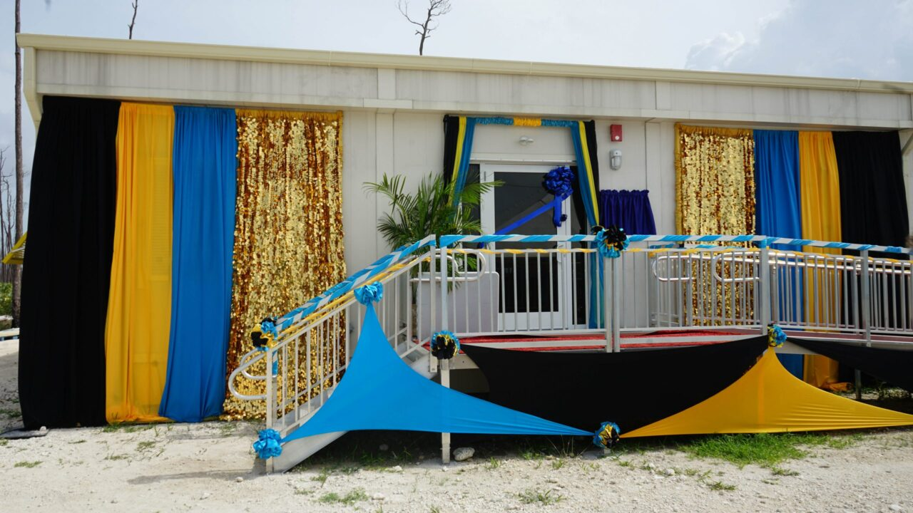 The re-commissioning ceremony of High Rock Clinic on Grand Bahama in the Bahamas, by the Prime Minister, on July 23, 2021 . (Maeve O'Connor/Direct Relief