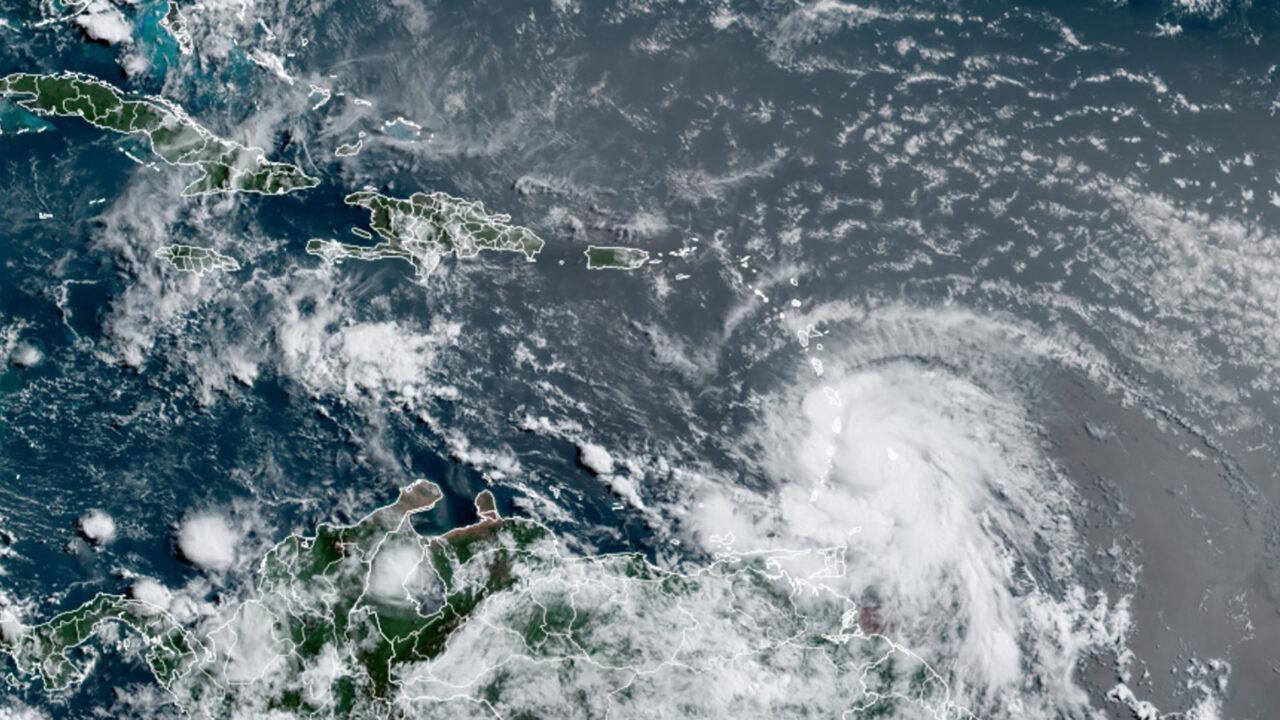 Hurricane Elsa as seen Friday morning from satellite imagery. (NOAA/RAMMB/Colorado State University)