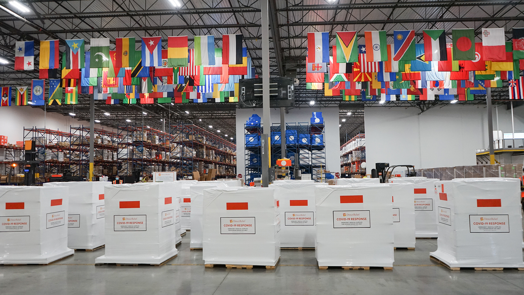Emergency medical support staged in Direct Relief's warehouse on August 10, 2021. (Maeve O'Connor/Direct Relief)