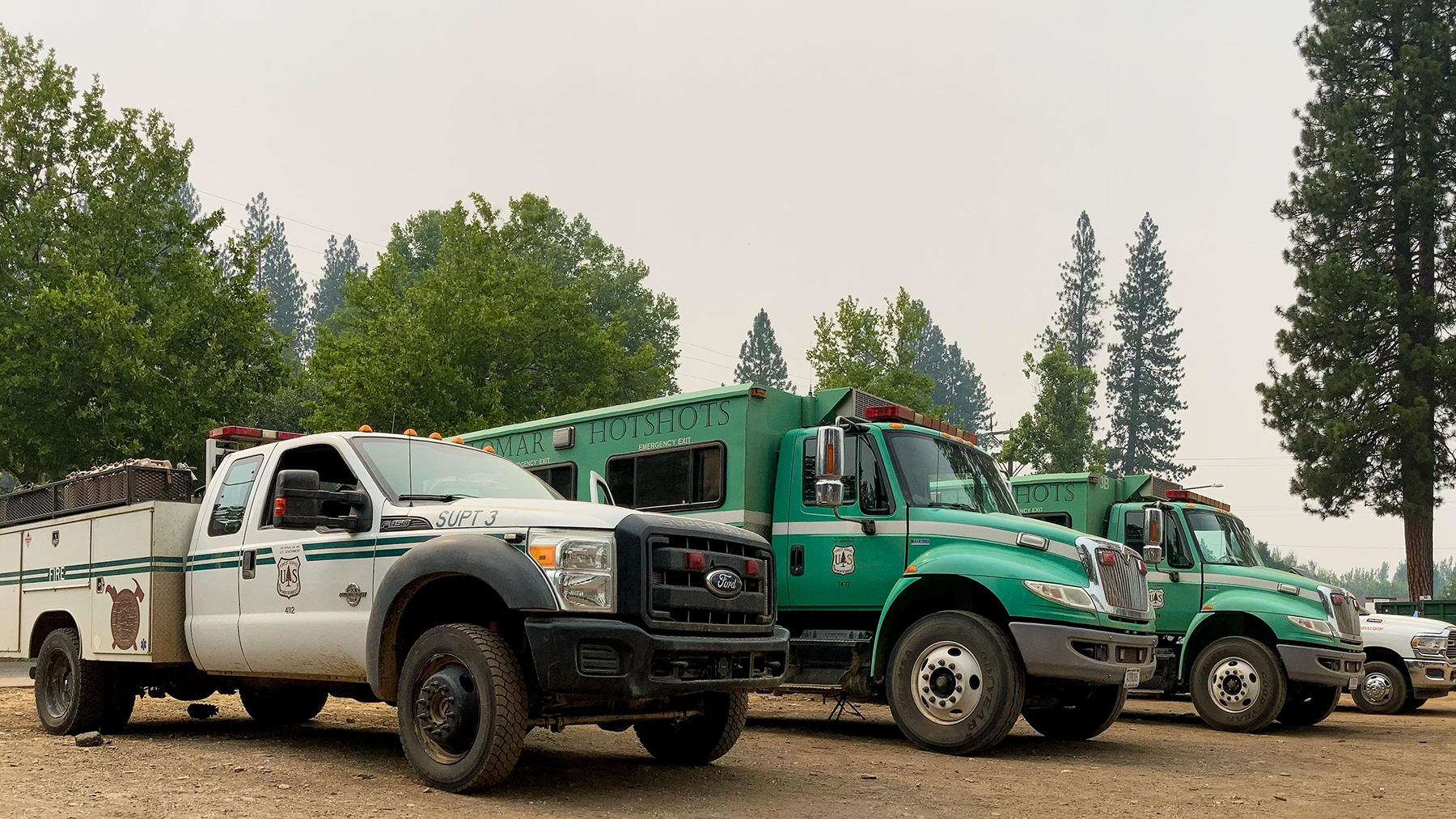 Engines respond to the Dixie Fire in Northern California on August 5, 2021. (Courtesy photo)