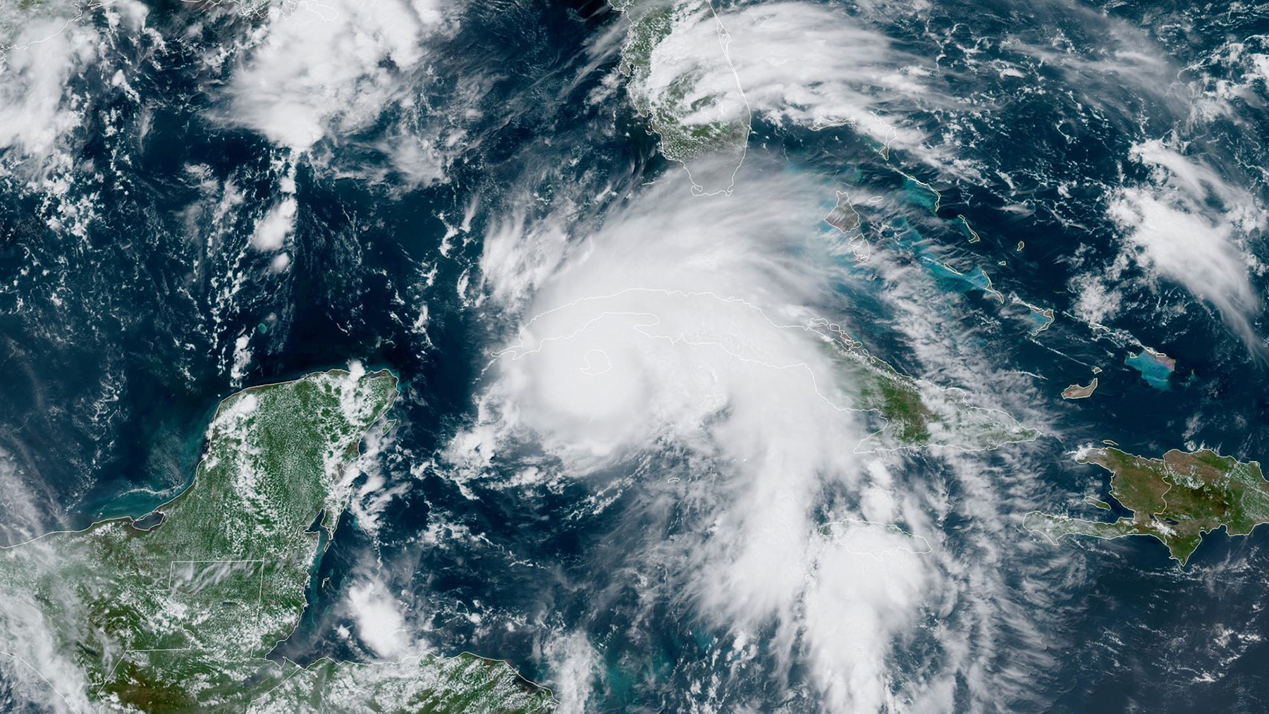 Hurricane Ida over the Caribbean on August 27, 2021. The storm made landfall in Louisiana Sunday and Direct Relief is coordinating with state and local officials about emergency medical needs. (Image courtest of NOAA)