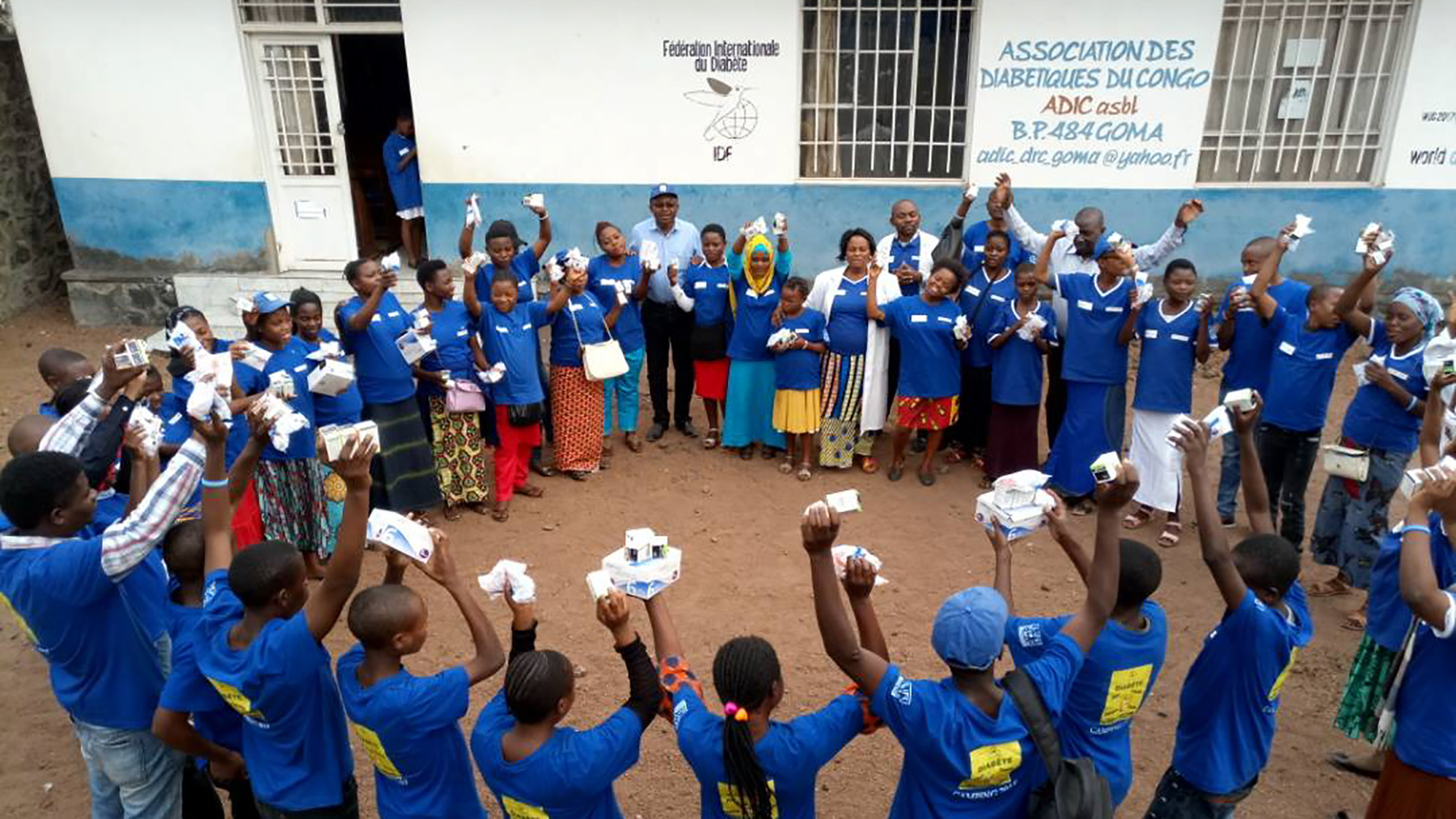 Association des Diabétiques du Congo hosts an annual summer camp in Goma, Democratic Republic of Congo, for young people living with diabetes. The camp teaches youth how to manage diabetes with medication, nutrition, exercise and self-care. (Photo courtesy of Association des Diabétiques du Congo)