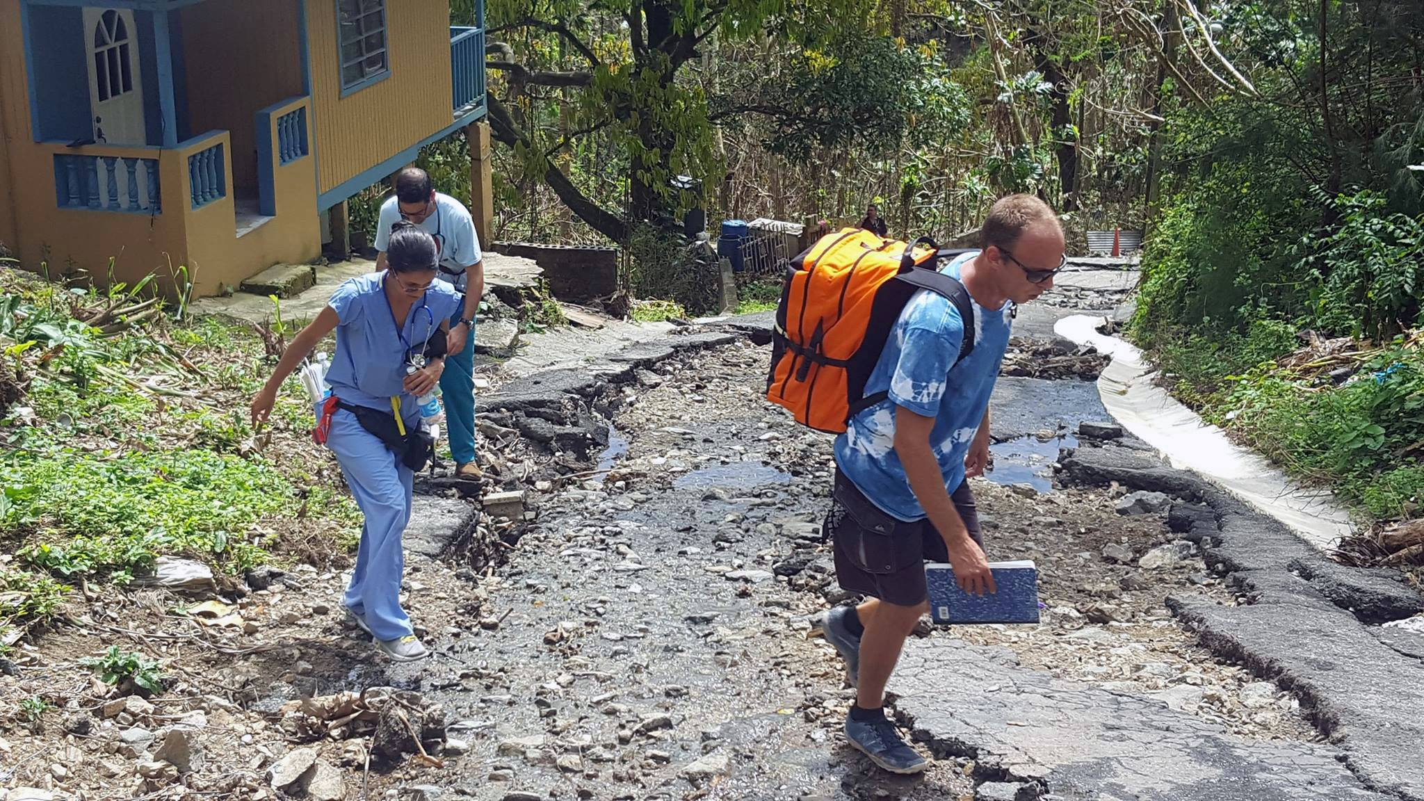 Equipped with an Emergency Medical Backpack, medical staff from Costa Salud Community Health Center, located in Rincon, Puerto Rico, continue to provide critical medical services to hurricane-affected communities in Rincon and surrounding areas. (Photo courtesy of Costa Salud)