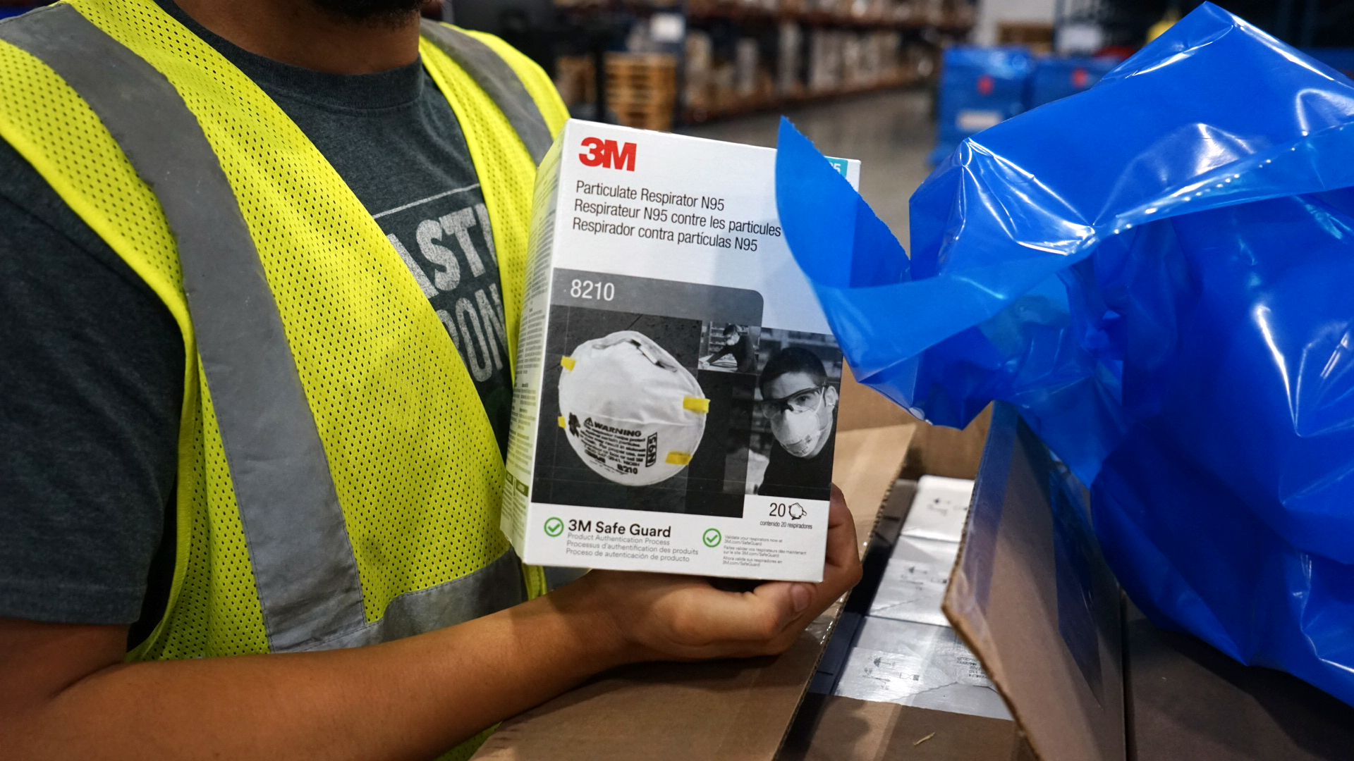 Protective equipment, including N-95 masks, were shipped out to clinics in the Democratic Republic of Congo, where an outbreak of Ebola has killed more than 40 people. Protective gear is essential to stopping the spread of the highly contagious disease. (Bryn Blanks/Direct Relief)