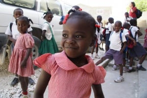 Children receive education and health care at Direct Relief's partner, the Partners In Health facility in Lascahobas, Haiti.