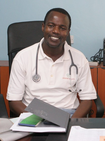 Dr. Mabeya smiles from his office at Gynocare Fistula Center.