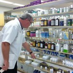 The pharmacy at our partner clinic, Thomas Langley Medical Center in Sumterville, Florida.