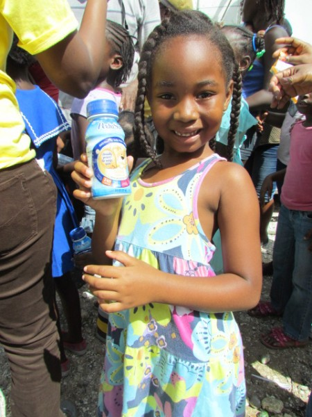 Thanks to the pre-positioned Hurricane Modules provided by Direct Relief,  after Hurricane Sandy, many received Pediasure and Zone Bars from Food for the Poor in Jamaica.