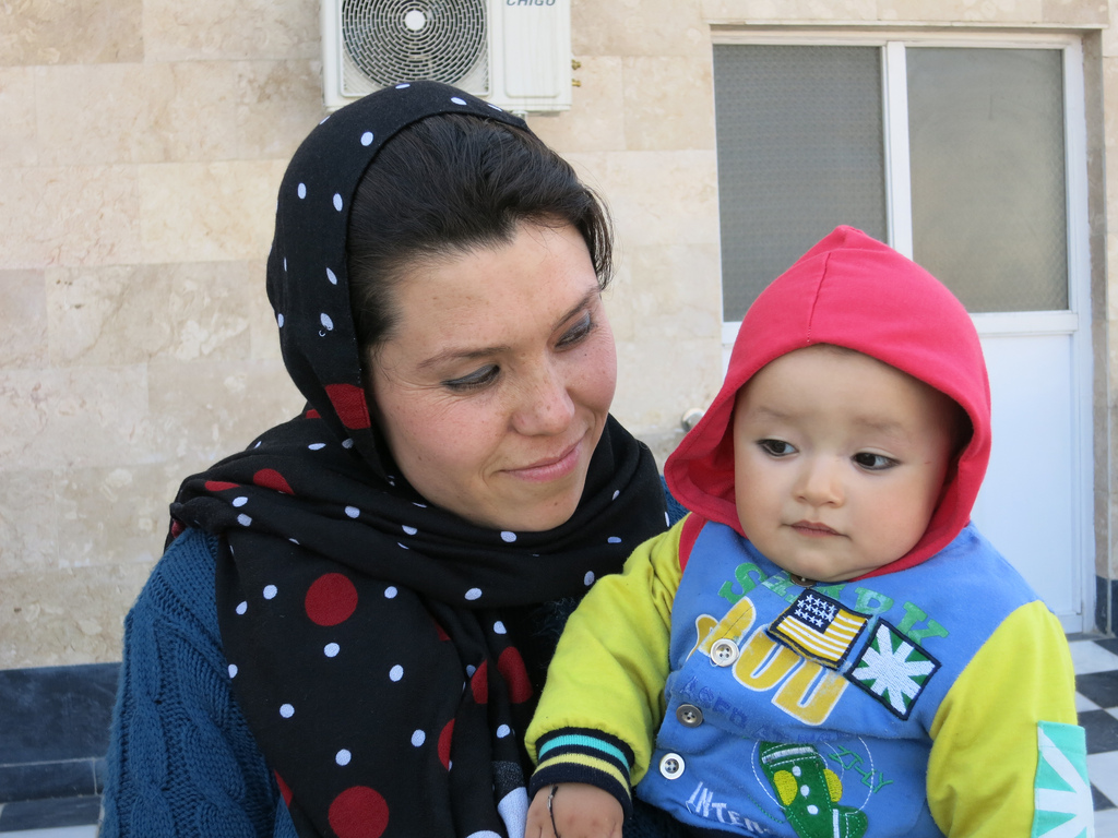 Mursal smiles with her daughter. Photo courtesy of American Medical Overseas Relief.